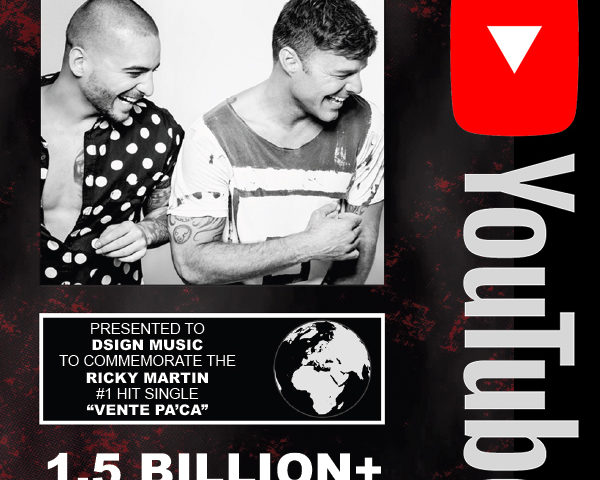 "Youtube: 1,5 BILLION views ""Vente Pa'Ca"" by Ricky Martin ft. Maluma"