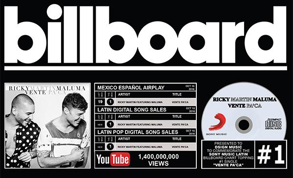 Billboard: Ricky martin - Vente Pa'Ca