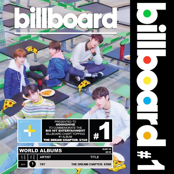 #1 US Billboard World Albums - TXT - Dream Chapter: Star